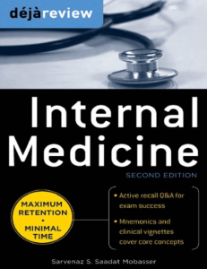 Book Cover: Deja Review Internal Medicine PDF 2nd Edition