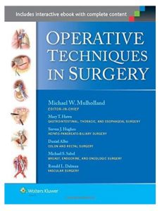 Book Cover: Operative Techniques in Surgery